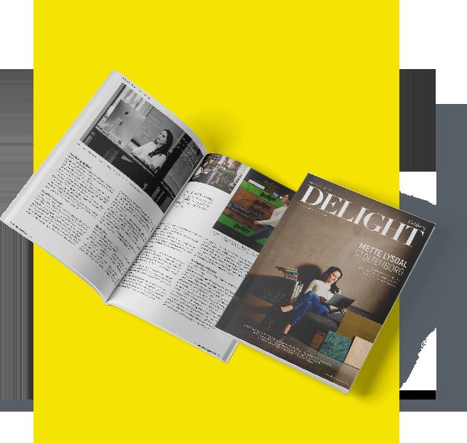 Eksempel på Delight Magazine